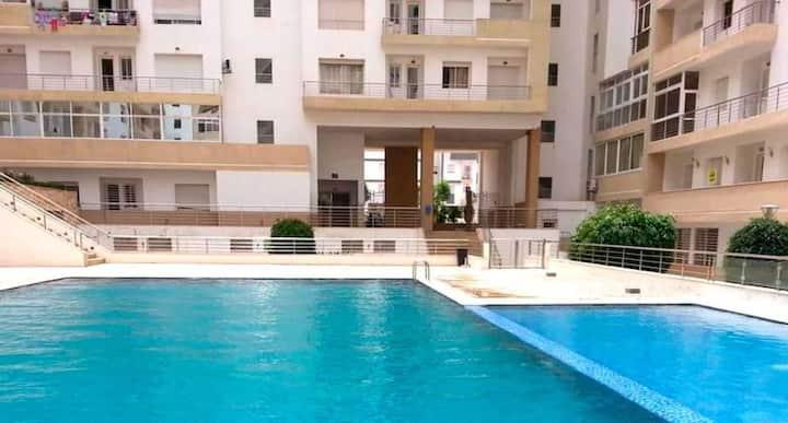 Appartement T2 sur agadir avec piscine